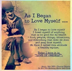 charlie chaplin love of oneself