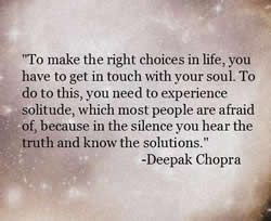 Deepak Chopra on solitude